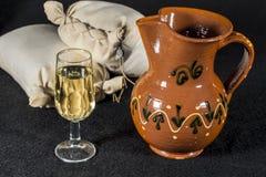 Fino sherry wine. Glass of Manzanilla Stock Image
