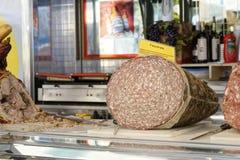 Finocchiona at market Stock Photos