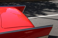 Fins of a '57 Chevy. Fins of a red '57 Chevy Stock Images