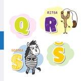 Fins alfabet Gestreepte katapult, Vectorbrieven en karakters royalty-vrije illustratie