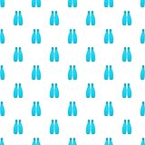 Fins for diving pattern, cartoon style. Fins for diving pattern. Cartoon illustration of fins for diving vector pattern for web Stock Image