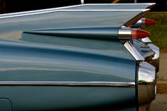 Fins of an old Cadillac Royalty Free Stock Image
