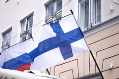 Finse Vlag Royalty-vrije Stock Afbeeldingen