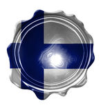 Finse vlag Stock Afbeelding