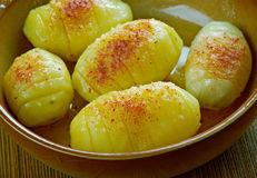 Finska bakad potatis arkivfoton
