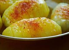 Finska bakad potatis royaltyfri fotografi