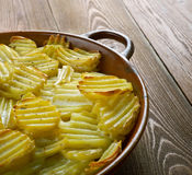 Finska bakade potatisar arkivbild