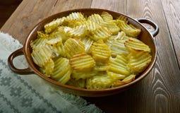Finska bakade potatisar royaltyfria bilder