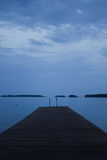 Finska blå sjö Arkivfoton