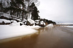 Finsky gulf of the Baltic sea in winter Stock Image