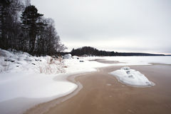Finsky gulf of the Baltic sea in winter Royalty Free Stock Photography