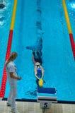 31 07 2017 - 07 08 2017 15. Finswimming Welt Junior Championships |Tomsk Lizenzfreie Stockfotos