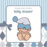 Fint baby showerkort royaltyfri illustrationer