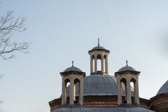 Fint exempel av turkiska arkitekturfragment f?r ottoman arkivbild