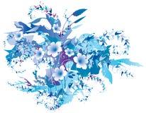 fint fryst blom- stock illustrationer
