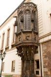 fint gotiskt oriel fönster arkivbild