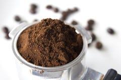 Fint malt kaffe royaltyfri bild
