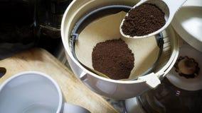 Fint malt kaffe royaltyfri foto