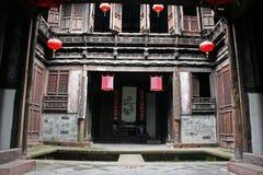 Fint snickeri av ett hus för traditionell kines i det Anhui landskapet arkivfoto