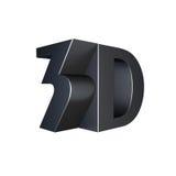 Fint tecken för metall 3d Arkivfoto