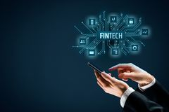 Fintech和财政技术 库存图片