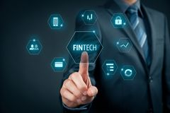 Fintech και οικονομική τεχνολογία στοκ φωτογραφία με δικαίωμα ελεύθερης χρήσης