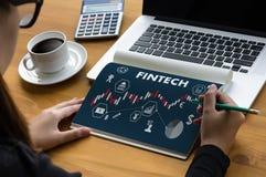 FINTECH οικονομική επιχείρηση χρημάτων τεχνολογίας Διαδικτύου επένδυσης Στοκ Φωτογραφίες