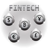 Fintech - валюты хромия иллюстрация штока