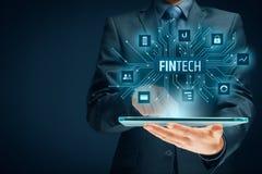 Fintech и финансовая технология стоковое изображение rf