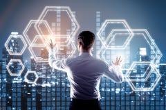Fintech concept Stock Images