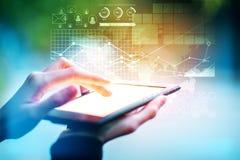 Fintech concept Stock Photography