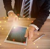 Fintech für Ziel und KPI stockfotos