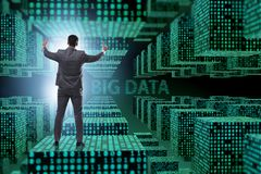 The fintech financial big data concept with analyst. Fintech financial big data concept with analyst royalty free stock photos