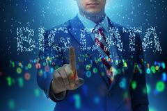 The fintech financial big data concept with analyst. Fintech financial big data concept with analyst stock photography