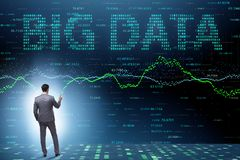 The fintech financial big data concept with analyst. Fintech financial big data concept with analyst stock image