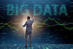 The fintech financial big data concept with analyst. Fintech financial big data concept with analyst royalty free stock images