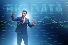 The fintech financial big data concept with analyst. Fintech financial big data concept with analyst royalty free stock image