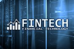 Fintech - Financial technology. Business solution and software development.  Royalty Free Stock Image
