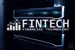 Fintech - Financial technology. Business solution and software development.  Royalty Free Stock Photos