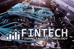 Fintech - Financial technology. Business solution and software development.  Stock Photo