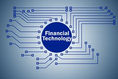 The fintech in financial technology concept. Fintech in financial technology concept Royalty Free Stock Images