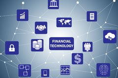 The fintech in financial technology concept. Fintech in financial technology concept Stock Photos
