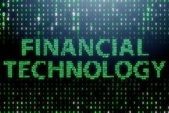 The fintech in financial technology concept. Fintech in financial technology concept Royalty Free Stock Image