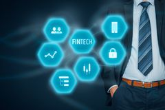 Fintech and financial technology Royalty Free Stock Photo