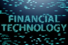 The fintech in financial technology concept. Fintech in financial technology concept Stock Photo
