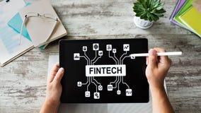 FIntech - finansiell teknologi, internetbetalning och digitalt pengarbegrepp fotografering för bildbyråer