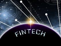 Fintech Globe Worldwide Web Payment 2d Illustration