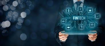 Fintech i pieniężna technologia Obraz Royalty Free