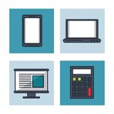 Fintech icons set. Vector illustration graphic design Stock Photo