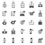 Fintech icons on white background Stock Image